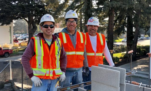 Members at Cornerstone Masonry jobsite