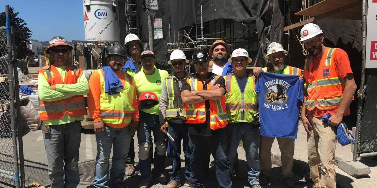 Members at Cornerstone Masonry Job in SF