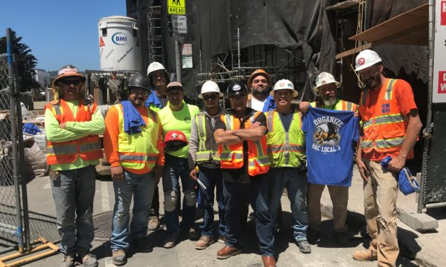 Members at Cornerstone Masonry Job in SF