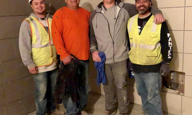 Members at DC Tile Jobsite